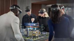 Affichage d'une maquette 3d d'un batiment avec un casque HoloLens en collaboration grâce à la puissance de Azure Remote Rendering