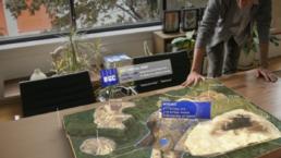 Modèle 3d d'une carte affichée par HoloLens dans le cadre d'un projet d'urbanisme grâce à Azure Remote Rendering