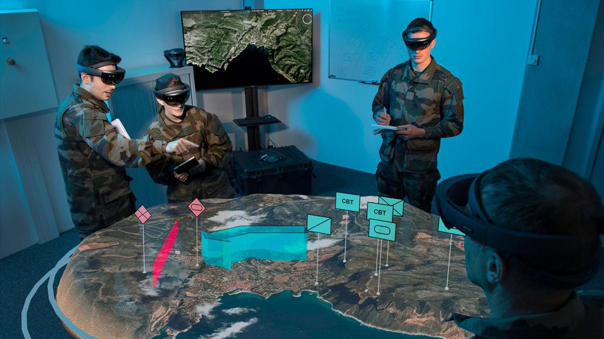 Maquette 3d utilisée par les militaires grâce aux casques HoloLens et à Azure Remote Rendering