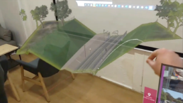 3d model of a tram project in HoloLens using Azure Remote Rendering