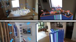 Affichage d'un modèle 3D BIM en MultiLive Preview dans le logiciel HL Manager
