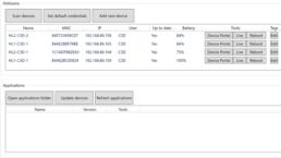 Interface du logiciel HL Manager