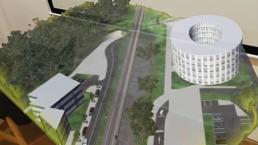 Affichage d'un modèle 3D d'un projet de tram dans HoloLens avec l'utilisation de Azure Remote Rendering
