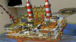 Affichage d'un modèle 3D d'une plateforme pétrolière dans HoloLens grâce à Azure Remote Rendering